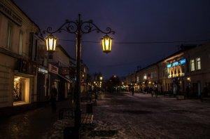 Освещение на улицах Калуги