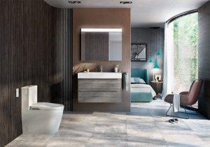 Roca и Laufen показали новые модели сантехники и мебели для ванных комнат на выставке Mosbuild 2017.