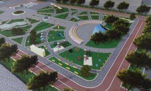 Новый парк в центре Калуги